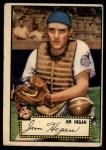 1952 Topps #17 RED  Jim Hegan Front Thumbnail
