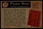 1955 Bowman #27  Preston Ward  Back Thumbnail