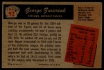 1955 Bowman #92  George Zuverink  Back Thumbnail