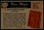 1955 Bowman #196  Russ Meyer  Back Thumbnail