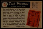 1955 Bowman #91  Dick Marlowe  Back Thumbnail