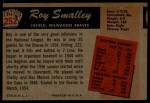 1955 Bowman #252   Roy Smalley Back Thumbnail