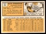 1963 Topps #263   Dave Stenhouse Back Thumbnail