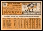 1963 Topps #269   Don Mincher Back Thumbnail