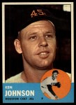 1963 Topps #352  Ken Johnson  Front Thumbnail