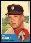 1963 Topps #546  Hal Reniff  Front Thumbnail