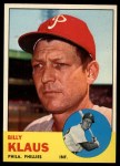1963 Topps #551  Billy Klaus  Front Thumbnail