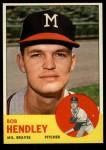 1963 Topps #62   Bob Hendley Front Thumbnail