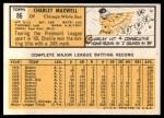 1963 Topps #86   Charley Maxwell Back Thumbnail