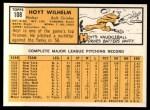 1963 Topps #108   Hoyt Wilhelm Back Thumbnail