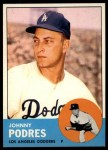 1963 Topps #150   Johnny Podres Front Thumbnail