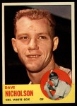 1963 Topps #234   Dave Nicholson Front Thumbnail