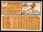 1963 Topps #267   Carl Sawatski Back Thumbnail