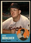 1963 Topps #269  Don Mincher  Front Thumbnail