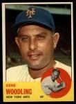 1963 Topps #342   Gene Woodling Front Thumbnail