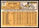 1963 Topps #346  Billy Hoeft  Back Thumbnail