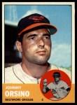 1963 Topps #418   John Orsino Front Thumbnail