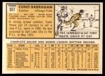 1963 Topps #557   Cuno Barragan Back Thumbnail