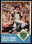 1963 Topps #146  1962 World Series - Game #5 - Tresh's Homer Defeats Giants  -  Tom Tresh Front Thumbnail