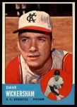 1963 Topps #492  Dave Wickersham  Front Thumbnail