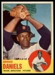 1963 Topps #497   Bennie Daniels Front Thumbnail