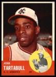 1963 Topps #449  Jose Tartabull  Front Thumbnail