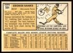 1963 Topps #564  George Banks  Back Thumbnail