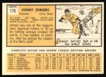 1963 Topps #178   John Edwards Back Thumbnail