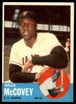 1963 Topps #490   Willie McCovey Front Thumbnail