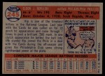1957 Topps #245   Rip Repulski Back Thumbnail
