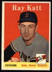 1958 Topps #284   Ray Katt Front Thumbnail