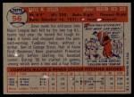 1957 Topps #56  Dave Sisler  Back Thumbnail