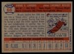 1957 Topps #66  Brooks Lawrence  Back Thumbnail