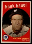1959 Topps #240   Hank Bauer Front Thumbnail