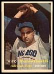 1957 Topps #74   Vito Valentinetti Front Thumbnail