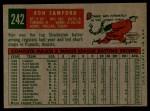 1959 Topps #242   Ron Samford Back Thumbnail