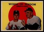1959 Topps #383   -  Casey Stengel / Don Larson Words of Wisdom Front Thumbnail