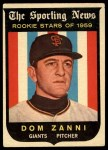 1959 Topps #145  Rookies  -  Dom Zanni Front Thumbnail