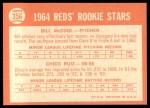 1964 Topps #356  Reds Rookies  -  Bill McCool / Chico Ruiz Back Thumbnail