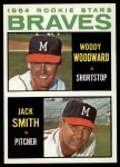 1964 Topps #378  Braves Rookies  -  Woody Woodward / Jack Smith Front Thumbnail