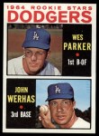 1964 Topps #456   Dodgers Rookie Stars  -  Wes Parker / John Werhas Front Thumbnail