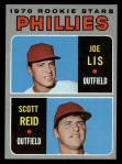 1970 Topps #56  Phillies Rookies  -  Joe Lis / Scott Reid Front Thumbnail