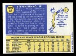 1970 Topps #87   Steve Renko Back Thumbnail