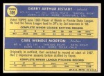 1970 Topps #109  Expos Rookie Stars  -  Garry Jestadt / Carl Morton Back Thumbnail