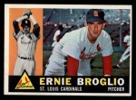 1960 Topps #16  Ernie Broglio  Front Thumbnail