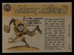 1960 Topps #572  All-Star  -  Johnny Antonelli Back Thumbnail