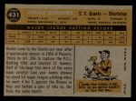 1960 Topps #431  Andre Rodgers  Back Thumbnail
