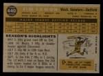 1960 Topps #440   Jim Lemon Back Thumbnail