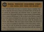 1960 Topps #466  Phillies Coaches  -  Ken Silvestri / Dick Carter / Andy Cohen Back Thumbnail