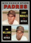 1970 Topps #262   -  Jerry Morales / Jim Williams Padres Rookies Front Thumbnail
